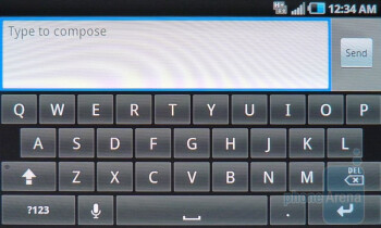 Stock - On-screen keyboards on  the Samsung Infuse 4G - Samsung Infuse 4G Review