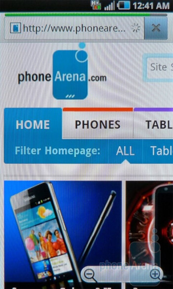 Web browsing with the Samsung Infuse 4G - Samsung Infuse 4G Review