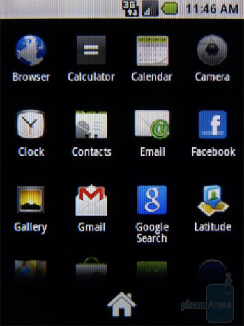 The main menu - The Samsung Replenish runs Android Froyo - Samsung Replenish Review