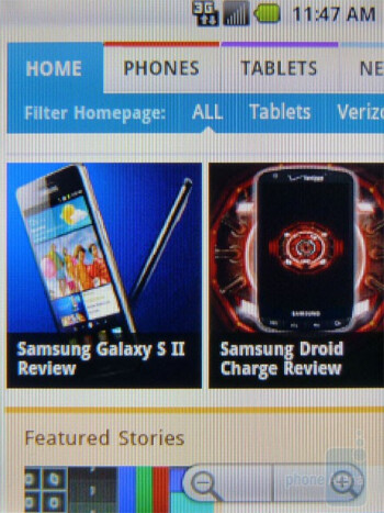 Surfing the web with the Samsung Replenish - Samsung Replenish Review