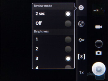 The camera interface - Samsung Replenish Review