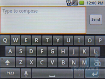 The on-screen keyboard - Samsung Replenish Review