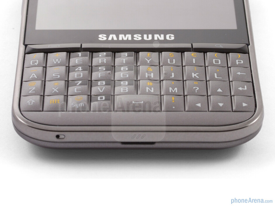 The QWERTY keyboard - Samsung Galaxy Pro Review