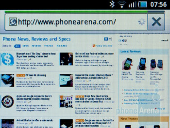 Web browsing with the Samsung Galaxy Pro - Samsung Galaxy Pro Review