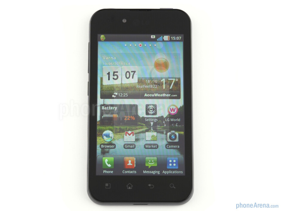 The 4-inch IPS-LCD screen - LG Optimus Black Review