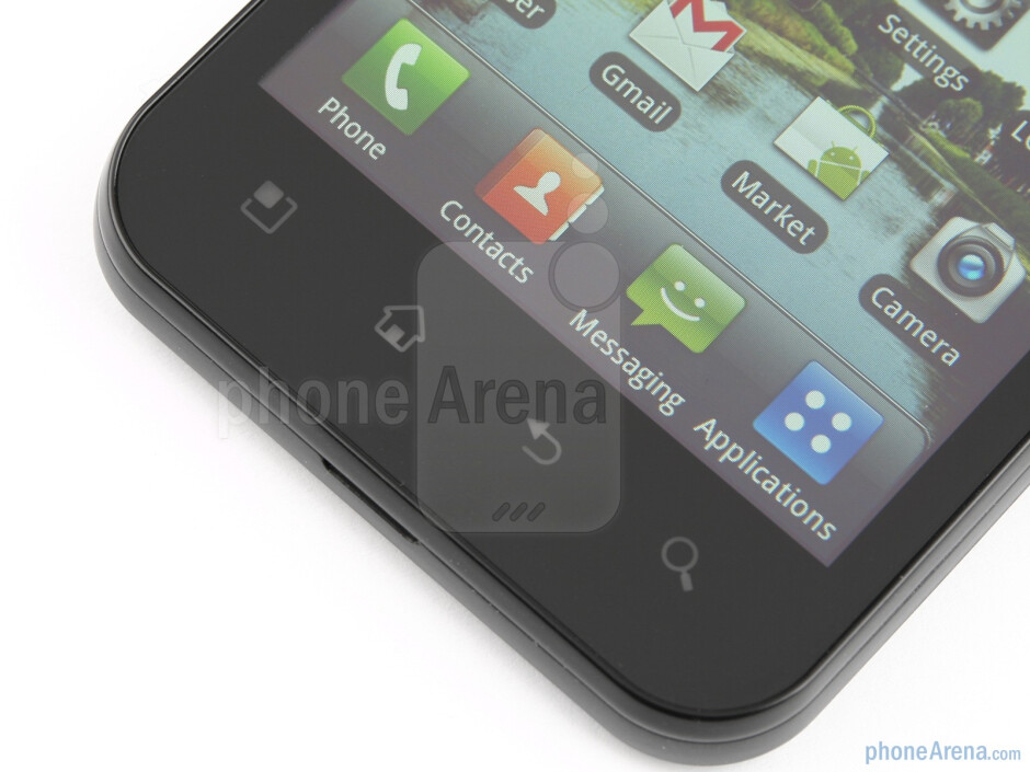 The touch-sensitive buttons - LG Optimus Black Review