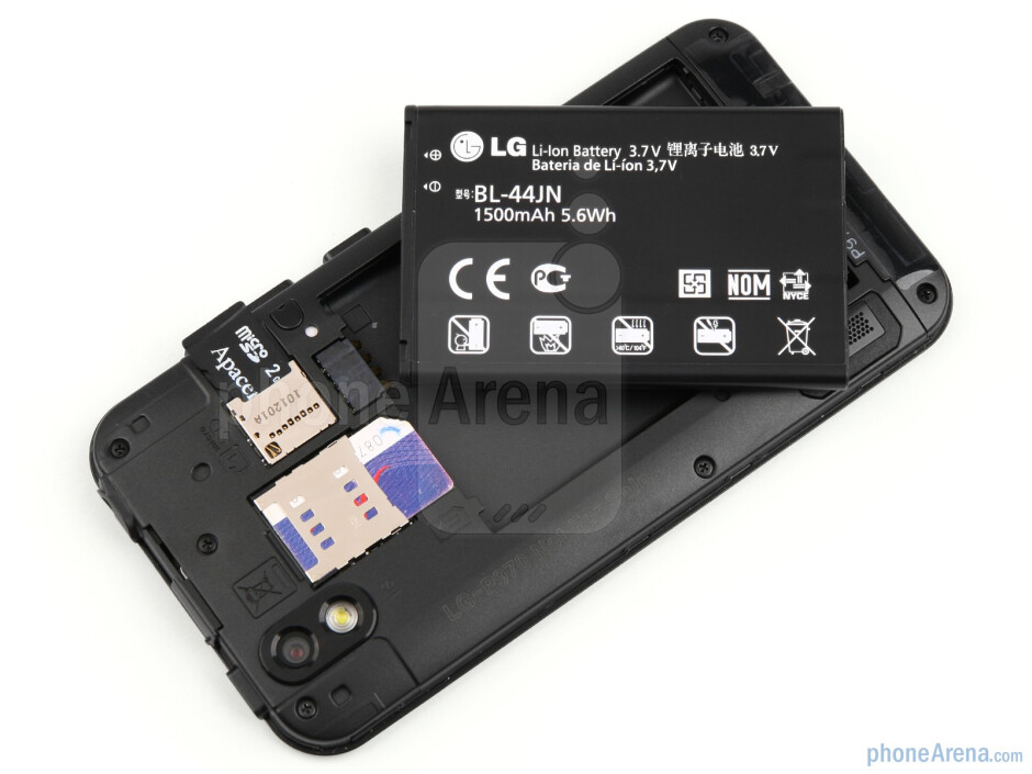 The back of the LG Optimus Black - LG Optimus Black Review