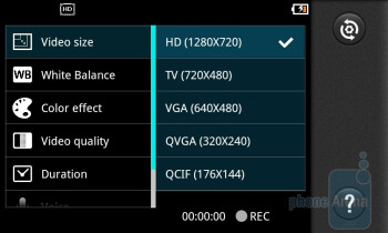 Camera interface - LG Optimus Black Review