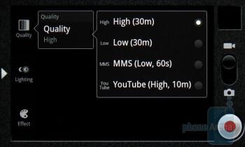 The video camera interface - Casio G'zOne Commando Review