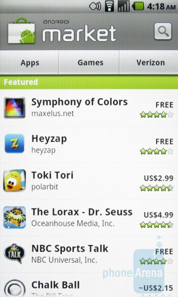 Android Market - Casio G'zOne Commando Review