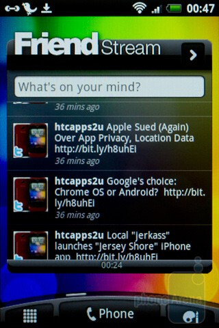 Friend Stream - Social networking - HTC Wildfire S Review