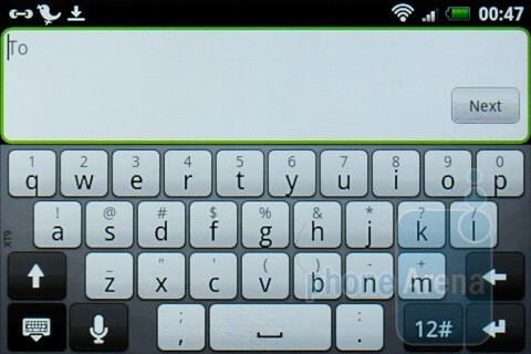 The on-screen keyboards of the HTC Wildfire S - HTC Wildfire S Review