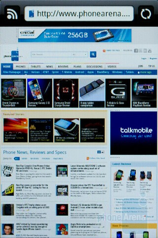Surfing the web with the HTC Wildfire S - HTC Wildfire S Review
