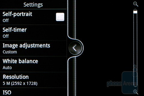 The camera interface - HTC Wildfire S Review