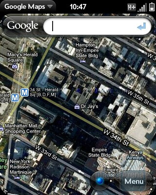Google Maps - HP Veer 4G Review