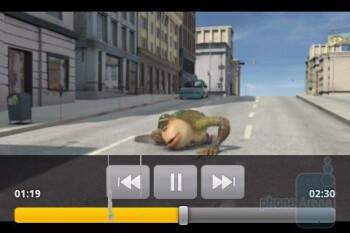 Video playback - LG Phoenix Review