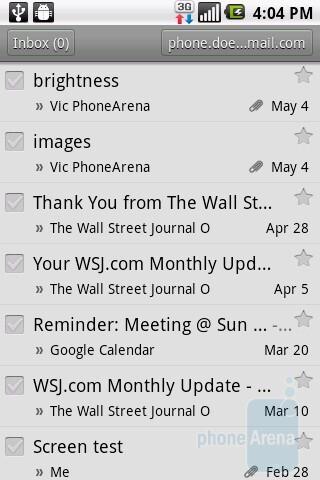 The Gmail app on the LG Phoenix - LG Phoenix Review