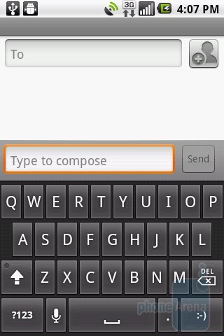 Android keyboard - LG Phoenix Review