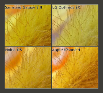 100% Crops - Samsung Galaxy S II vs LG Optimus 2X vs Nokia N8 vs Apple iPhone 4: Camera comparison