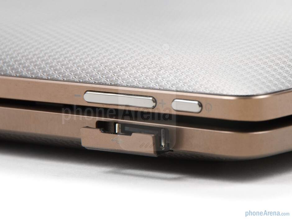 Apart from providing a full sized keyboard, the transforming dock brings additional slots - Asus Eee Pad Transformer Review