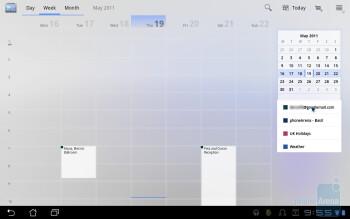 Calendar - Asus Eee Pad Transformer Review