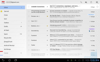 Email on the Asus Eee Pad Transformer - Asus Eee Pad Transformer Review