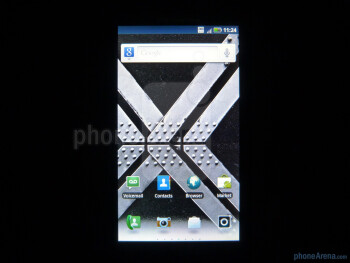 "The 4.3"" capacitive touchscreen has been upgraded to qHD (540 x 960) resolutionand has good viewings angles - DROID X2 Review"