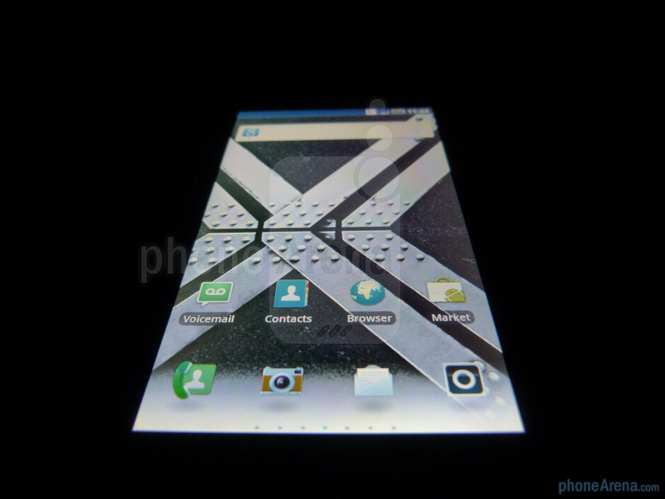 """The 4.3"""" capacitive touchscreen has been upgraded to qHD (540 x 960) resolutionand has good viewings angles - DROID X2 Review"""