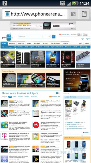 Web browsing on the Motorola DROID X2 - Motorola DROID 3 vs Motorola DROID X2