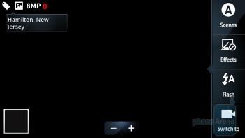 Camera interface of the Motorola DROID X2 - Motorola DROID 3 vs Motorola DROID X2