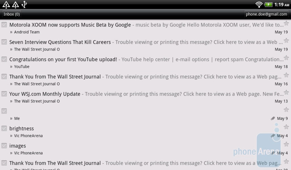 Gmail - HTC Flyer Review