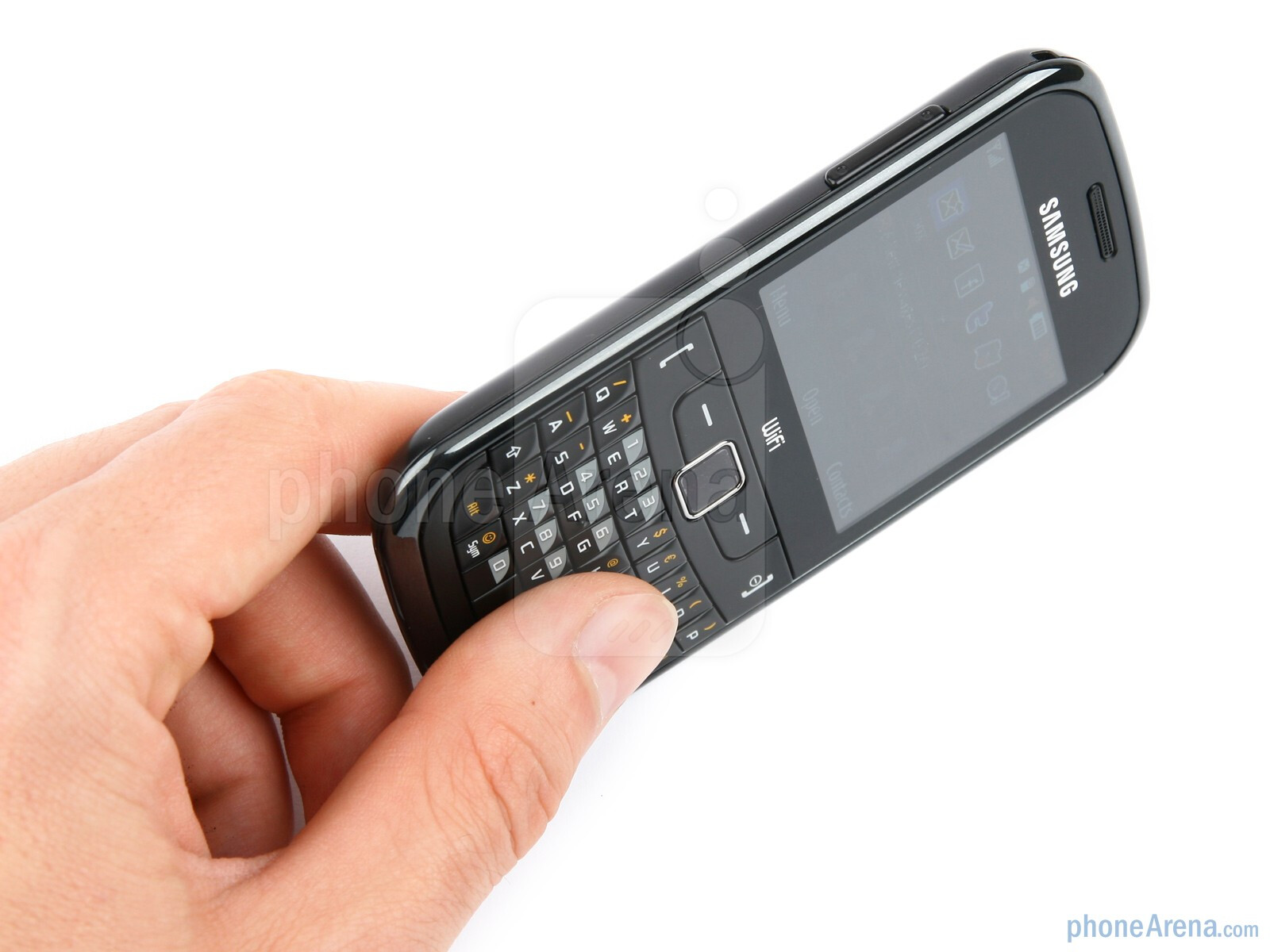 The Samsung Ch t 335 feels well in the hand Samsung Ch t