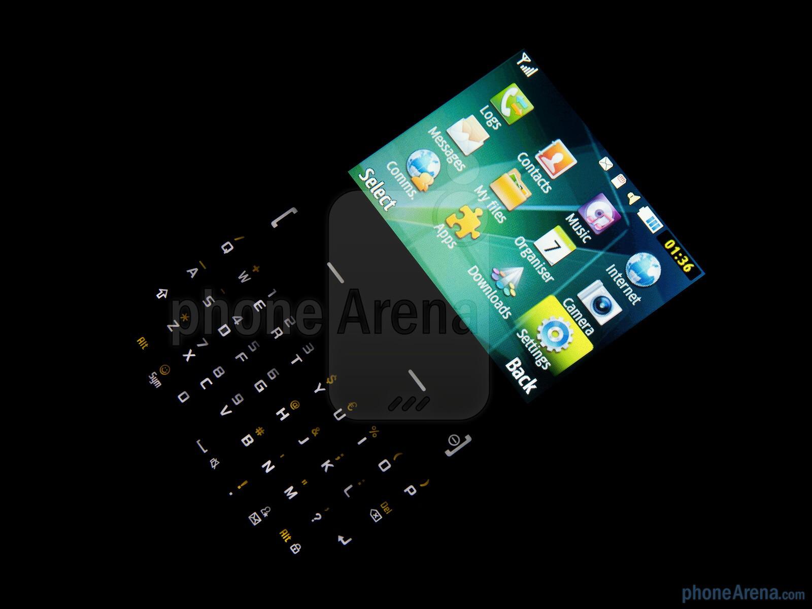 The Samsung Ch t 335 has a pretty BlackBerry esque full QWERTY keyboard