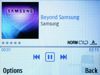 Music player - Samsung Ch@t 335 Review
