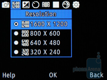 Camera interface - Samsung Ch@t 335 Review