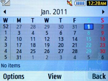 Calendar - Samsung Ch@t 335 Review