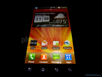 "The LG Revolution boasts a 4.3"" WVGA LCD display - LG Revolution Review"