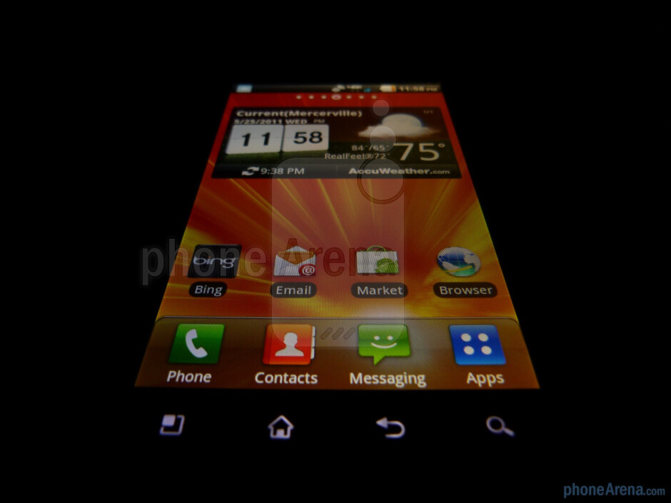 """The LG Revolution boasts a 4.3"""" WVGA LCD display - LG Revolution Review"""