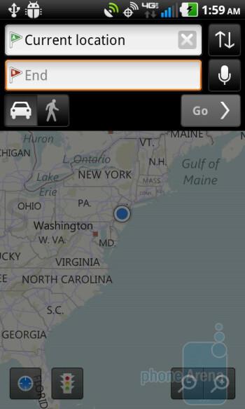 Bing maps - LG Revolution Review
