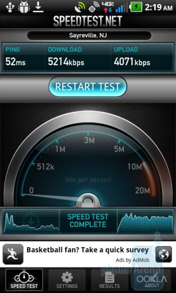 Speedtest.net app - LG Revolution Review