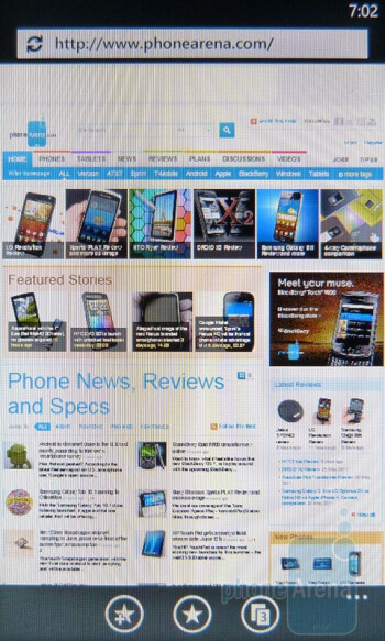 Internet Explorer makes web browsing more than satisfactory - HTC Trophy Review