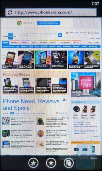 The HTC HD7S offers an overall great web browsing experience - HTC HD7S Review