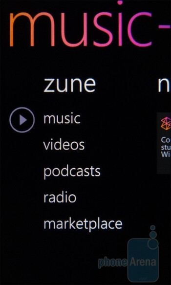 Zune - HTC HD7S Review