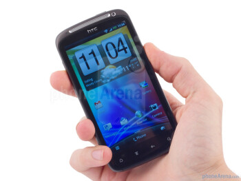 The HTC Sensation has bevelled glass display and aluminium construction - HTC Sensation Review