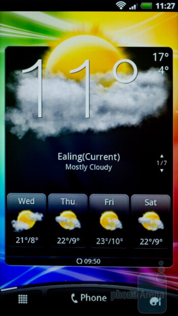 The widgets on the homescreen - HTC Sensation Review