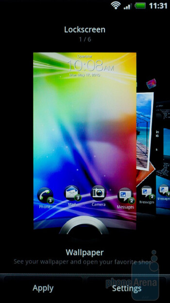 The lock screen of the HTC Sensation can be customized - HTC Sensation Review