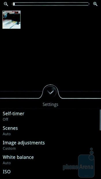 Camera interface - HTC Sensation Review