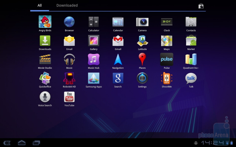 The Samsung GALAXY Tab 10.1 runs Android 3.0 Honeycomb - Samsung GALAXY Tab 10.1 Preview