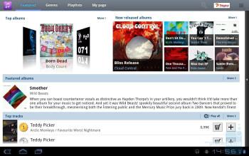 Music Hub - Samsung GALAXY Tab 10.1 Preview