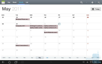 Calendar - Samsung GALAXY Tab 8.9 Preview